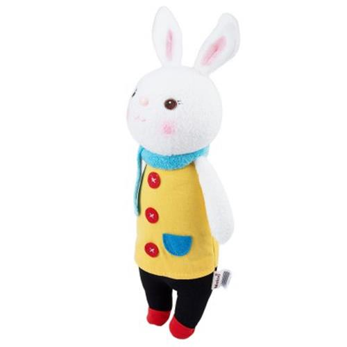 METOO CUTE STUFFED CARTOON BUNNY DESIGN BABIES PLUSH TOY DOLL FOR KIDS