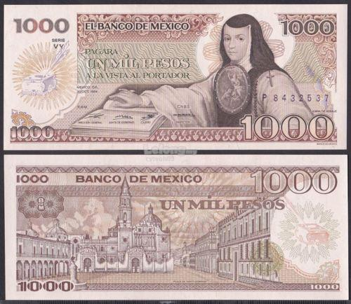 Mexico 1985 Thousand 1000 Peso UNC