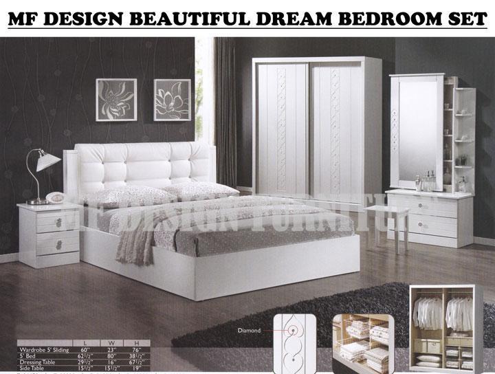 Mf Design Beautiful Dream Bedroom Set Bilik Tidur