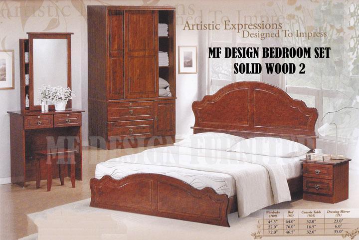 Set Bilik Tidur Kayu Solid Desainrumahid