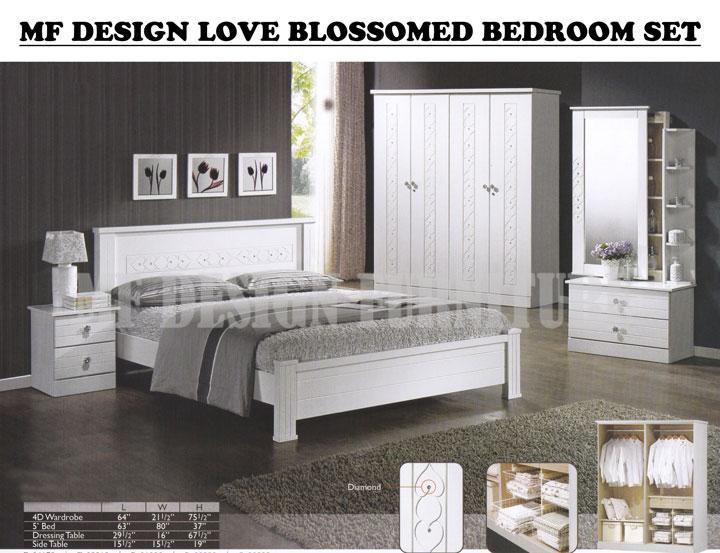 Mf Design Love Blossomed Bedroom Set Bilik Tidur