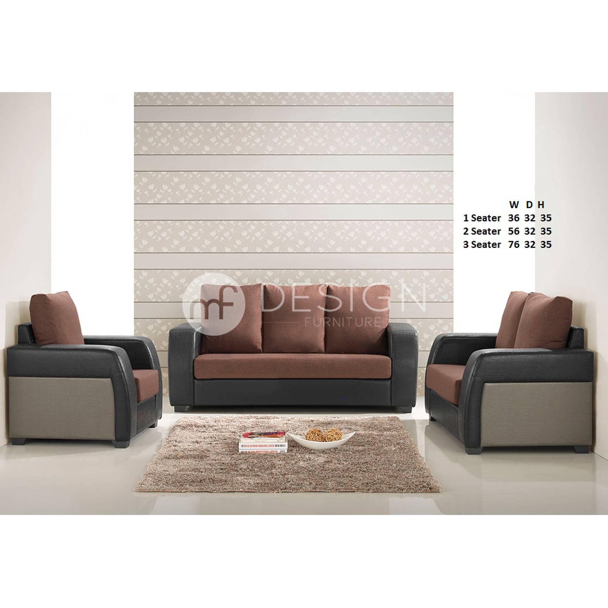 Mf Design Norwich 1 2 3 Sofa Set