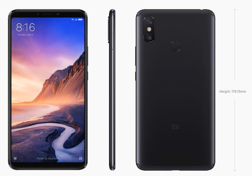 Mi Max 3 (4GB RAM /64GB) Big Display, Bigger Battery,*FREE USB CABLE