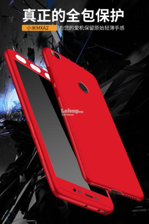 Mi Note 3/ Redmi 5A / Note 5A Prime 360 Full Case with Tempered Glass