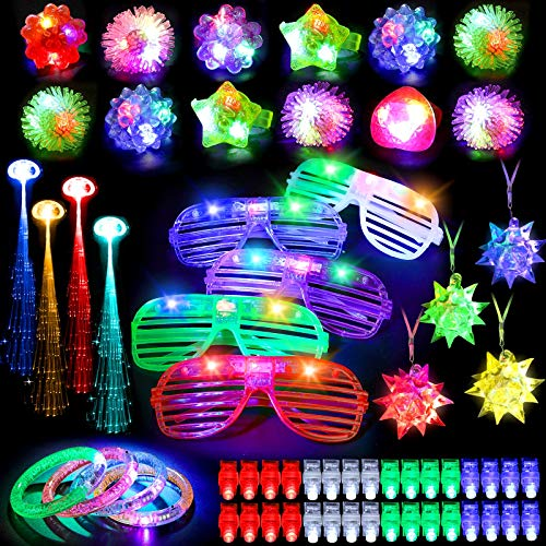 Mibote Led Light Up Toys Party Favors Glow in the Dark Party Supplies for Kid/