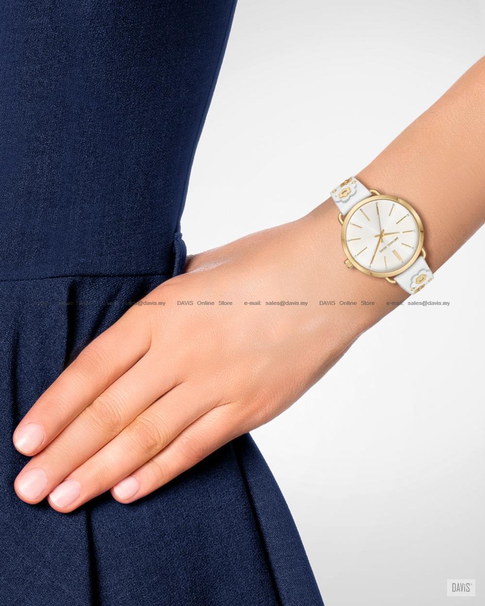 f81d6985c0eff MICHAEL KORS MK2737 Women s Portia Floral Applique Leather White Gold
