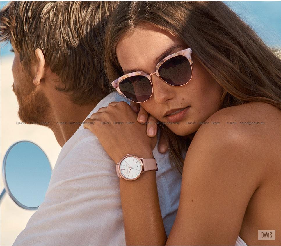 68416c9c30923a MICHAEL KORS MK2741 Women's Pyper 3-hand Glitz Leather Strap Pink