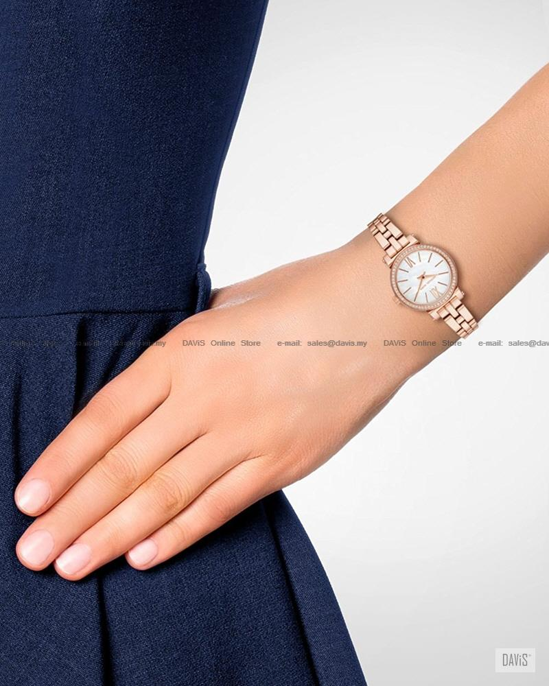 696f3cf81606 MICHAEL KORS MK3834 Women s Sofie 3-hand Glitz SS Bracelet Rose Gold
