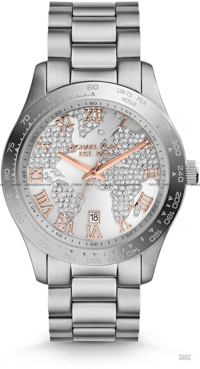 World Map Watch Michael Kors.Michael Kors Mk5958 Layton Date Glob End 4 5 2021 11 19 Am