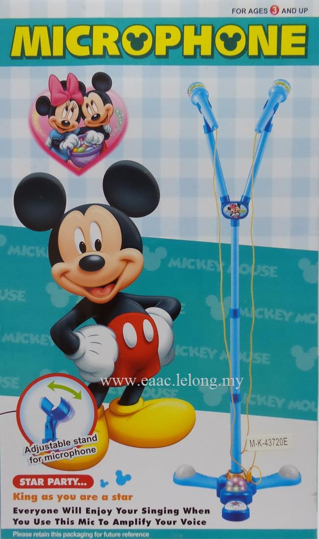 Mickey Double Microphone with Adjustable Stand for Children Singing