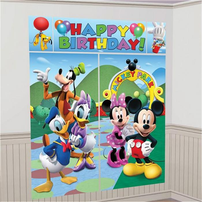 Mickey Mouse Clubhouse Scene Setter Happy Birthday 6ft FREE GLUE DOTS