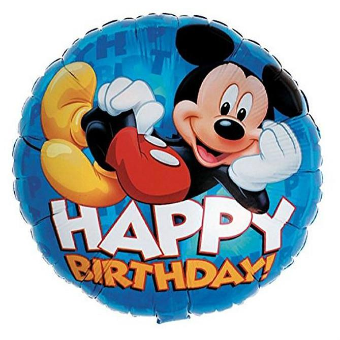 Mickey Mouse Happy Birthday 17in Foil Balloon Blue 81640