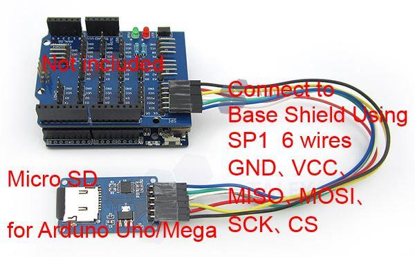 Micro SD Module for Arduino Uno Mega with SPI connectors