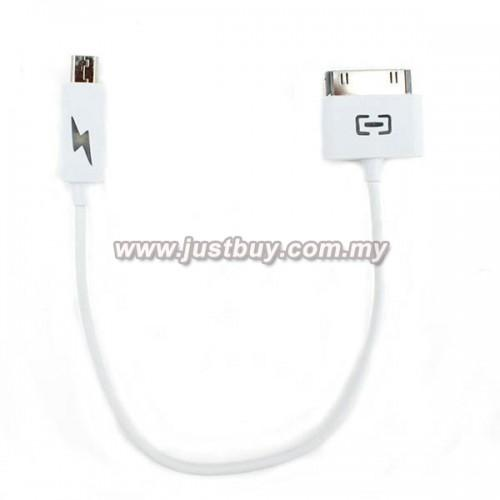 Micro USB To Apple 30-Pin Emergency Charging Cable