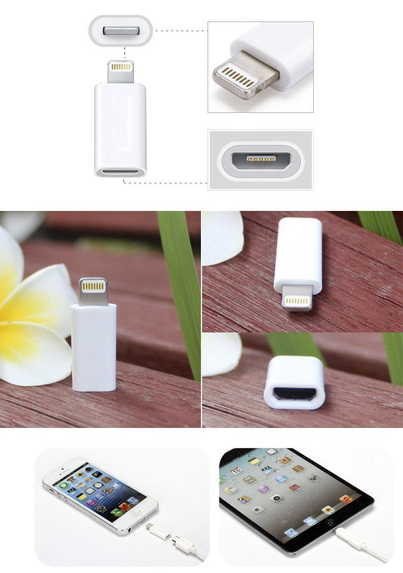 Micro USB to Apple Lightning Charger Adapter