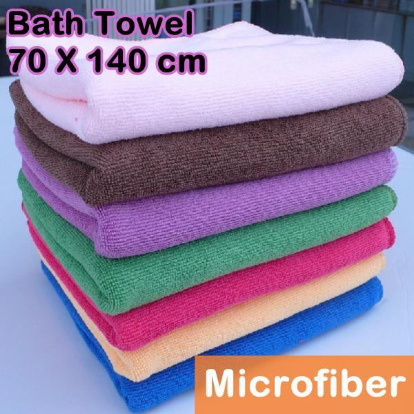 Microfiber Bath Towel Soft Absorbent 140x70cm (Ship with Pos Laju)