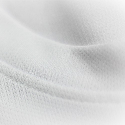 Microfiber Round Neck T-Shirt Size M - White (Bundle 10pcs)