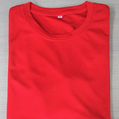 Microfiber Round Neck T-Shirt Size XS - Red (Bundle 10pcs)