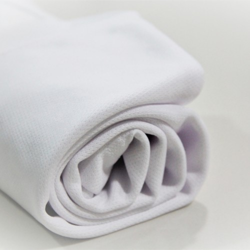 Microfiber Round Neck T-Shirt Size XS - White (Bundle 10pcs)