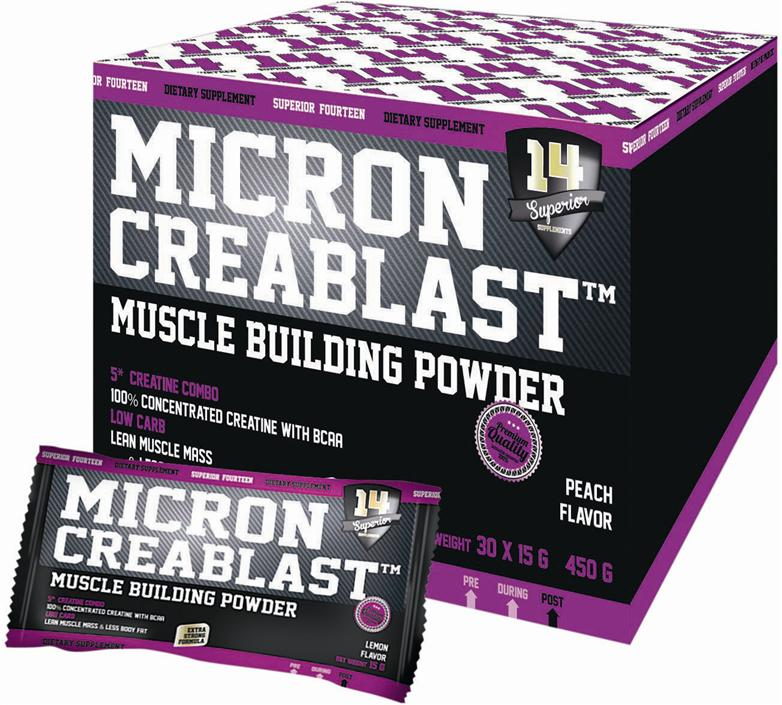 Micron Creablast Muscle Building Power Creatine Combo Superior 14