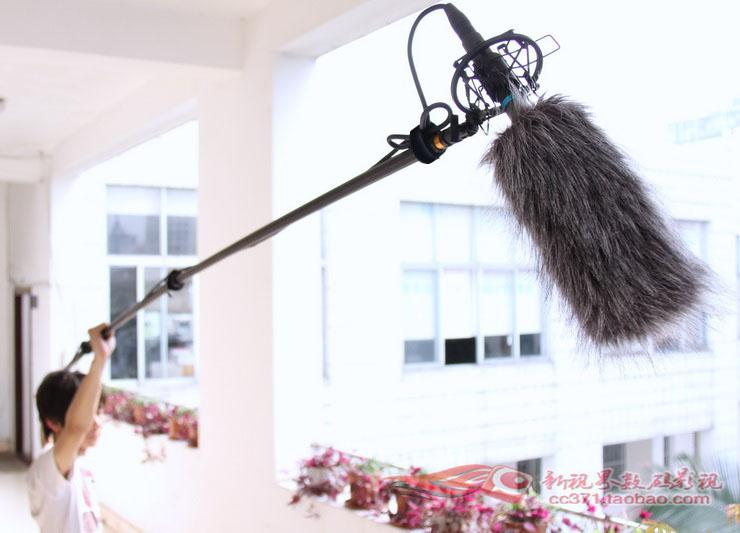 Microphone Windshield Wind Cut Mic Fur Muff Reduce Noise Filter