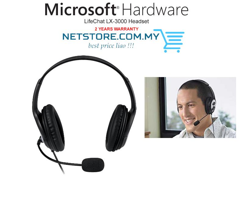 adb15a7a016 Microsoft LifeChat LX-3000 Noise Cancelling Stereo Headset (JUG-00017)