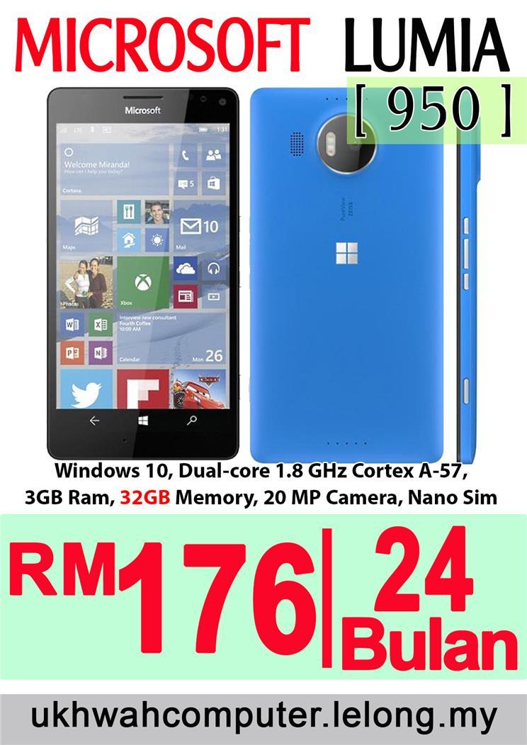 Microsoft Lumia 950 Harga Ansuran Installment AEON 24 Bulan