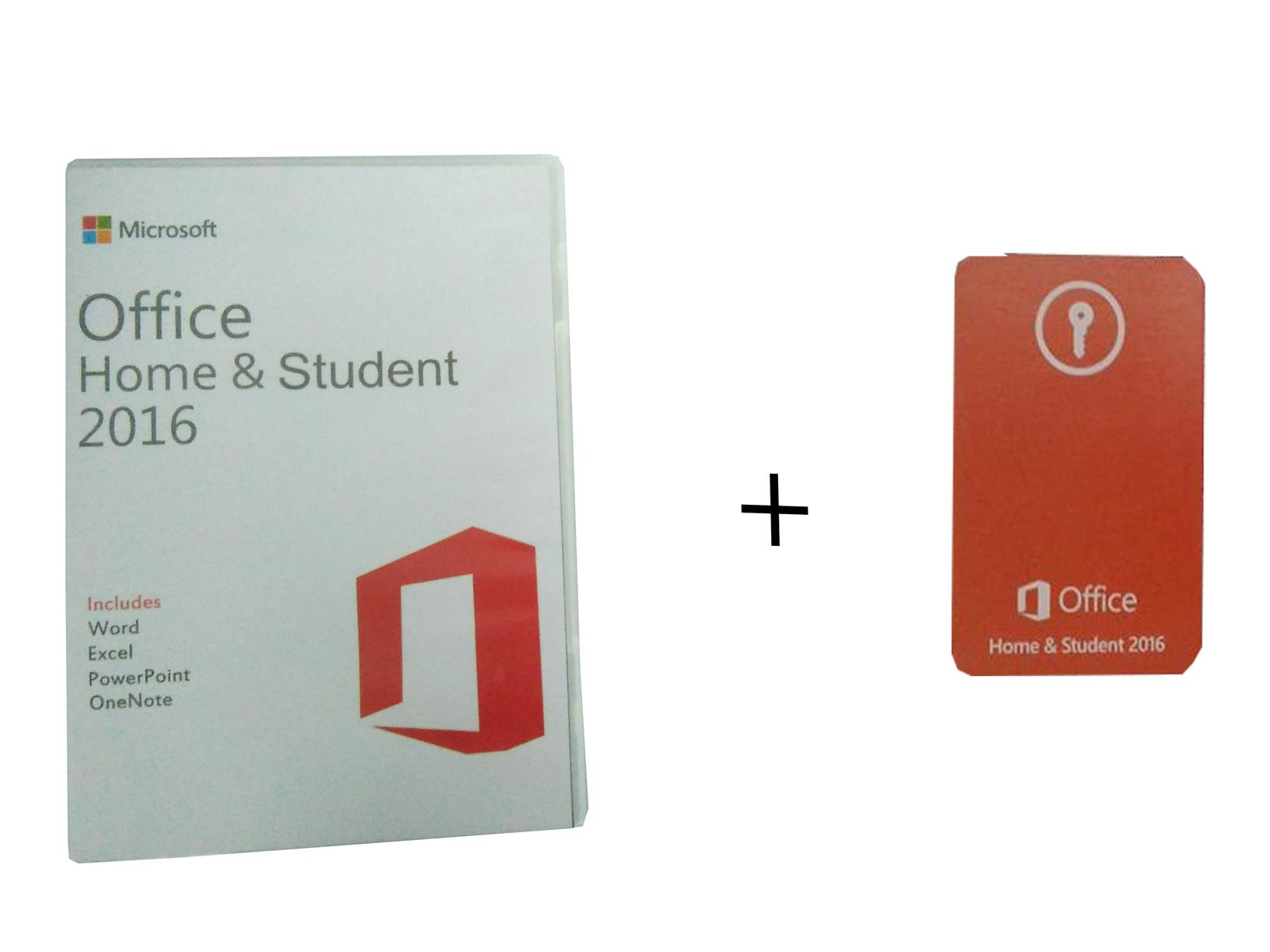 MICROSOFT OFFICE 2016 HOME AND Amp STUDENT KEY CARD