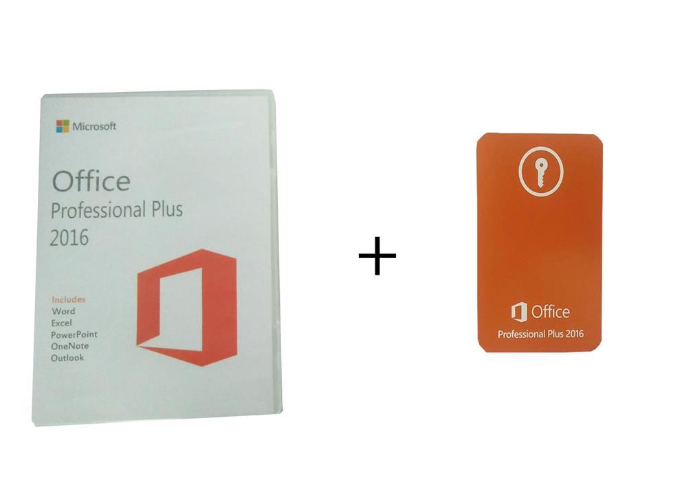 MICROSOFT OFFICE 2016 PROFESSIONAL PLUS KEY CARD + INSTALLATION CD