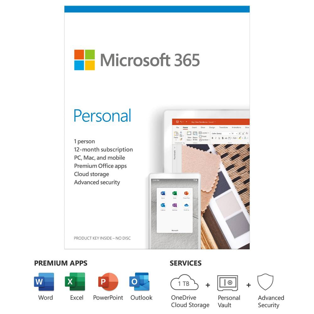 MICROSOFT OFFICE 365 PERSONAL 2019 ESD 1-YEAR 1-USER (QQ2-00003)