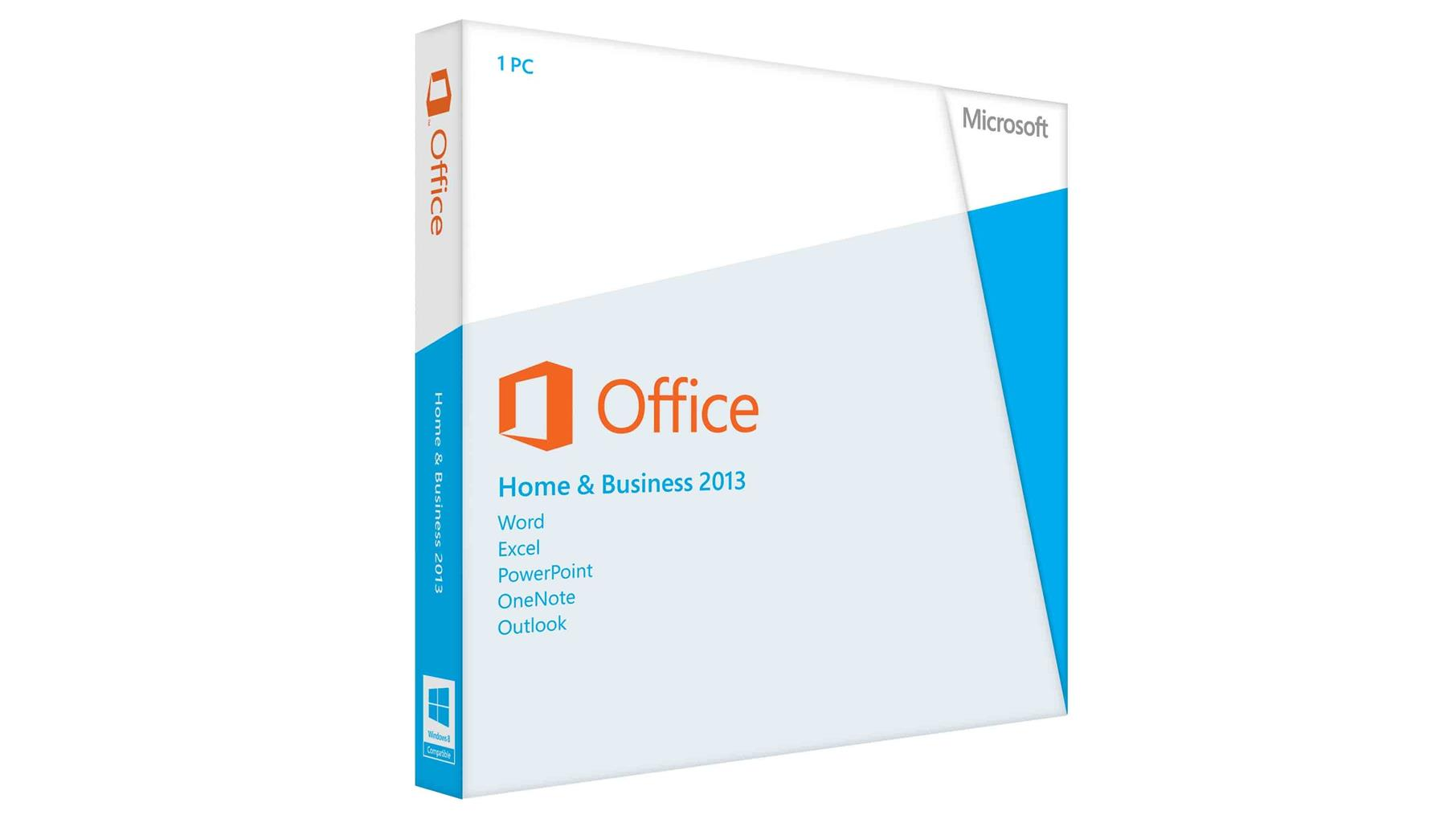 MICROSOFT OFFICE HOME & BUSINESS 2013 (end 1/6/2016 6:15 PM)