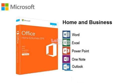 microsoft office home business 2016 retail 100 original