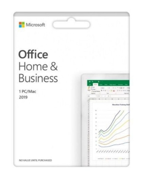MICROSOFT OFFICE HOME AND BUSINESS 2019 SOFTWARE ESD/ RETAIL MEDIALESS