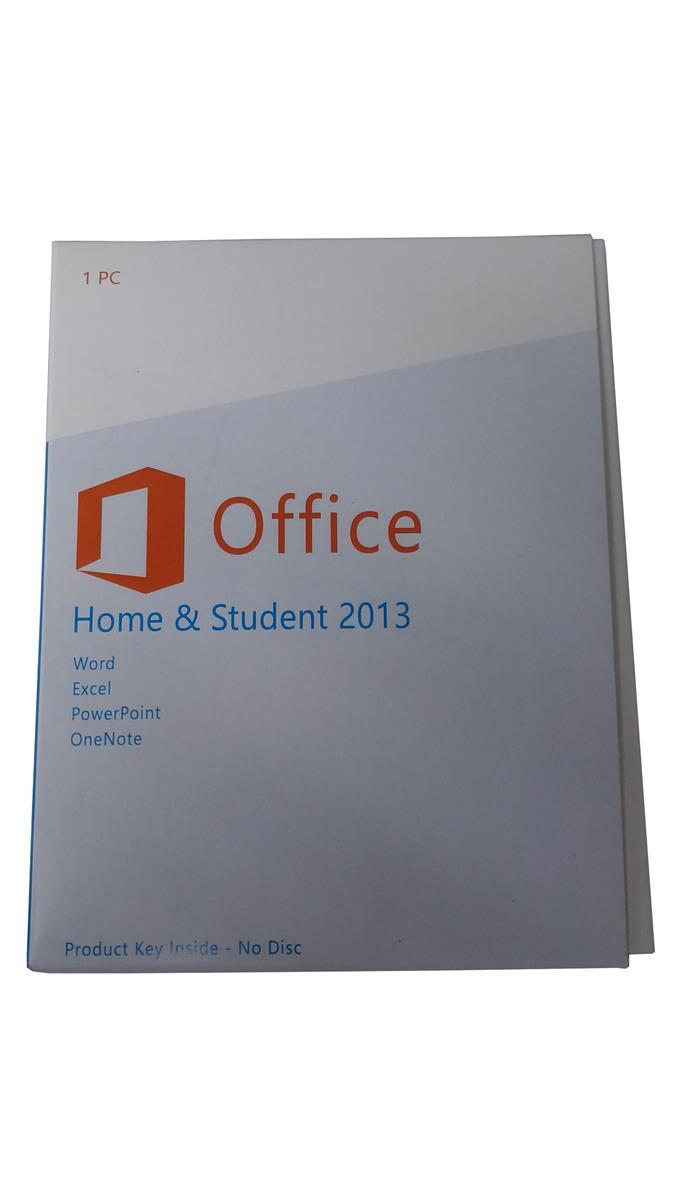 microsoft office home student 2013 retail box with coa sticker