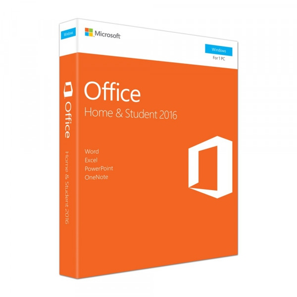 MICROSOFT OFFICE HOME  & STUDENT 2016 RETAIL MEDIALESS (79G-04679)