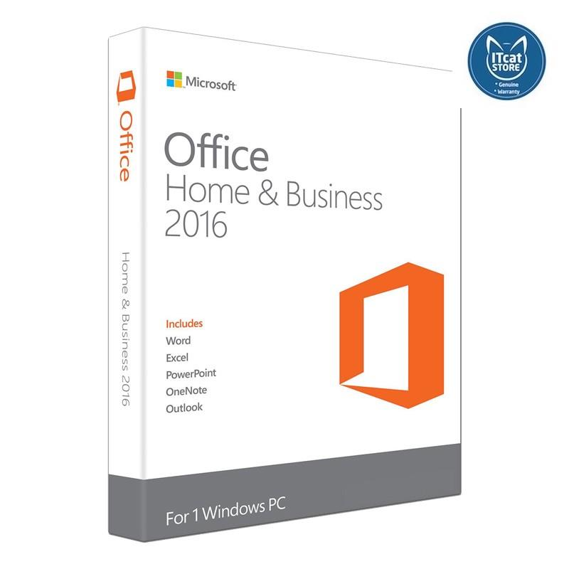 MICROSOFT OFFICE MAC HOME BUSINESS 1PK 2016 ENGLISH APAC EM MEDIALESS