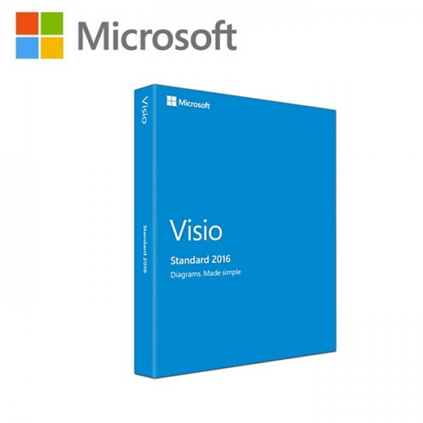 microsoft visio standard 2016 english dvd db86 05536 32 bit 64 - My Visio