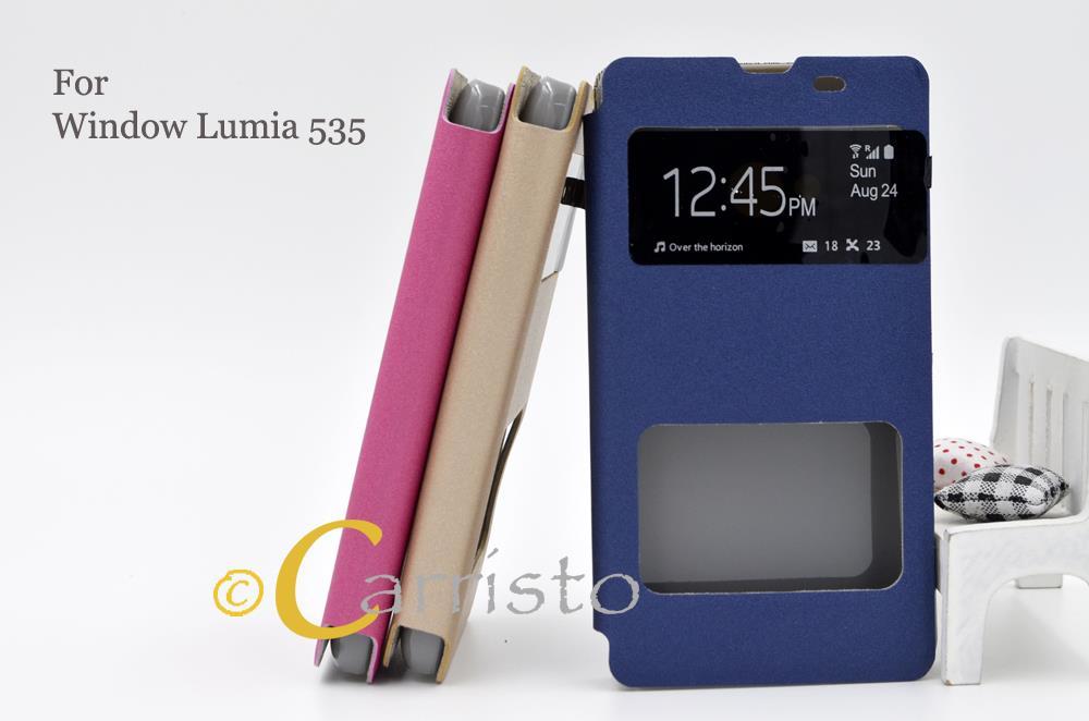 size 40 447c4 d0257 Microsoft Window Nokia Lumia 535 Flip Cover Case Casing Scrn Protc
