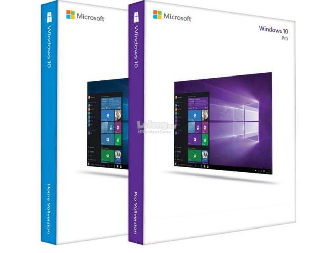 Microsoft Windows 10 Home/Pro with Original CD Box + licence sticker