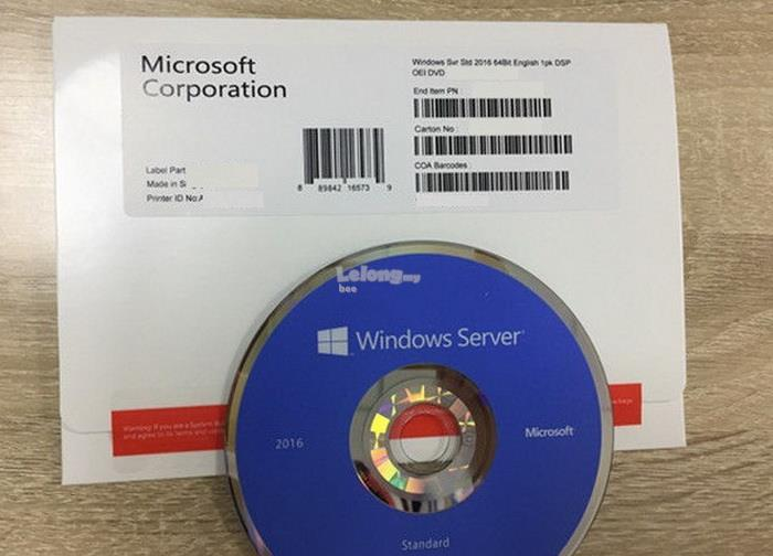 Microsoft Windows Server 2016 Standard OEM 64 Bit License