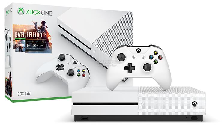 Microsoft Xbox One S 1000GB 1TB Battlefield 1 Bundle Asia White