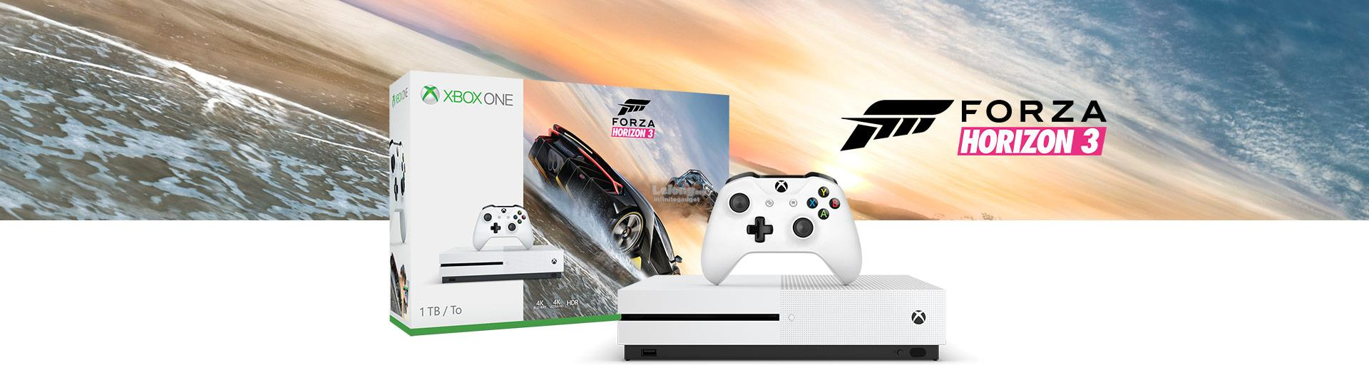 Microsoft Xbox One S 1000GB 1TB Forza Horizon 3 Bundle Asia White