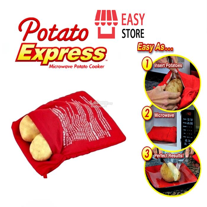 Microwave cooking bag for potatoes