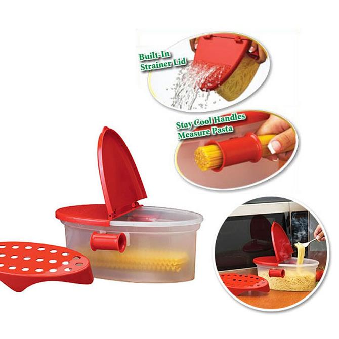 Microwave Pasta Boat Cooker Spaghetti Cooking