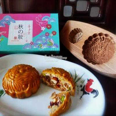 4ede98fc2 Mid-Autumn Traditional Wooden 3D Dragon Phoenix Mooncake Mould 2-in-1