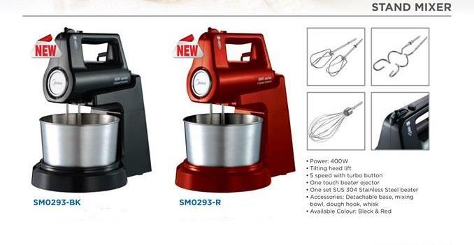 MIDEA Stand Mixer SM0293-BK