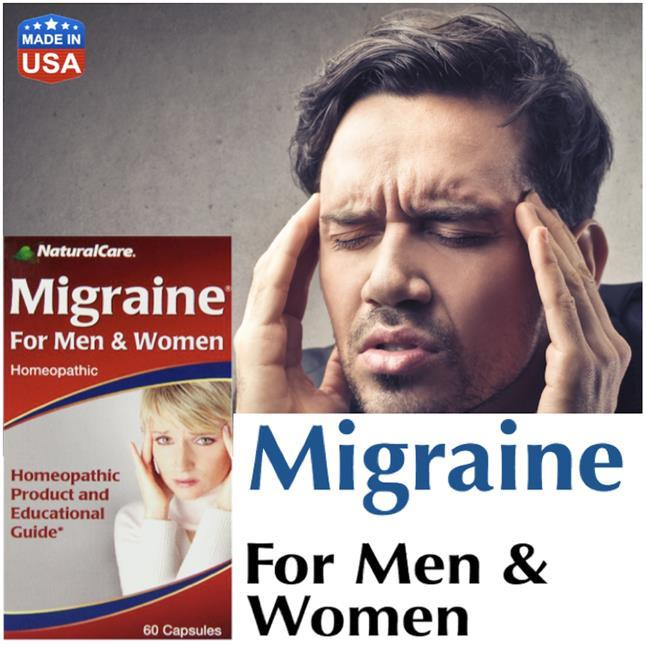 Migraine For Men & Women 60 Capsules, Homeopathic, Headache (USA)