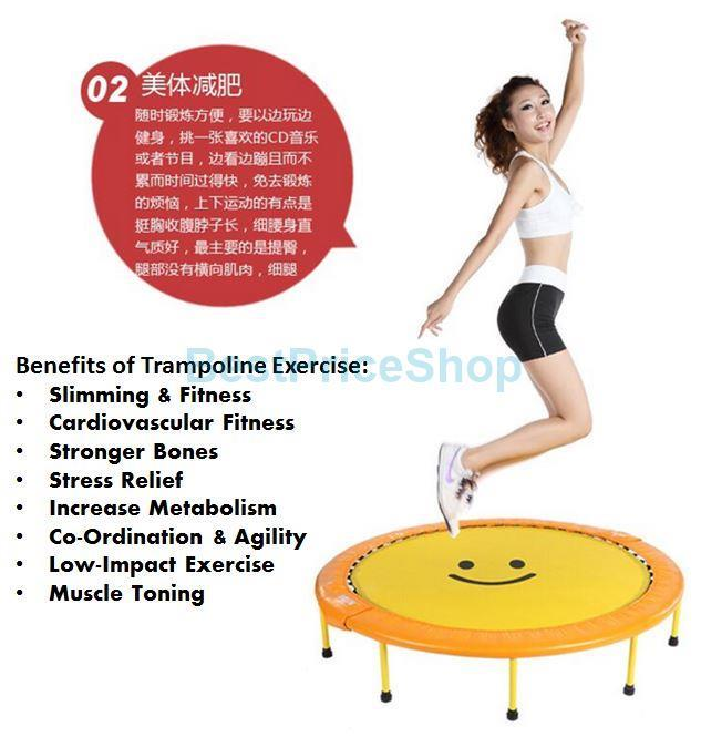 MIKING 60 inch Foldable Adult Trampoline Fitness Slimming Anti Stress