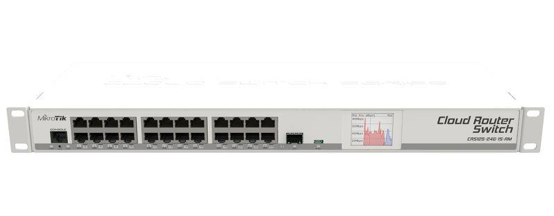 Mikrotik 24-port GigE + 1x SFP Cloud Router Switch (CRS125-24G-1S-RM)