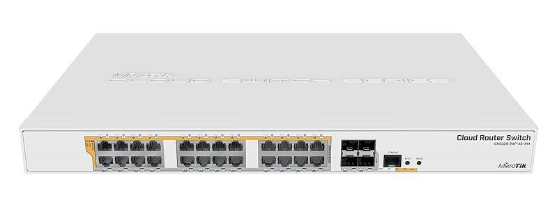 Mikrotik 24-port GigE + 4x SFP+ Cloud Router Switch (CRS328-24P-4S+RM)